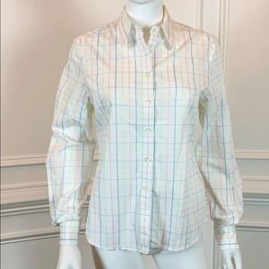 Faconnable Plaid Button Down Shirt in Size S